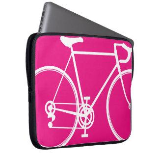 ショッキングピンクのバイクのデザインのラップトップスリーブ ラップトップスリーブ