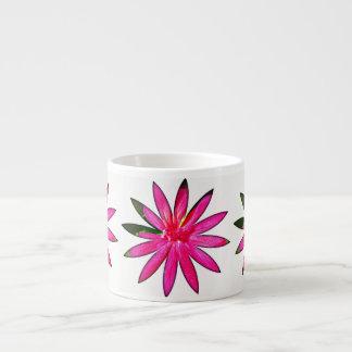 ショッキングピンクのファンタジーの花の陶磁器のエスプレッソのマグ エスプレッソカップ