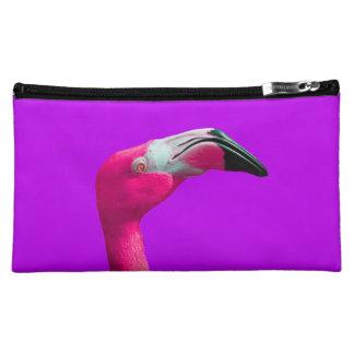 ショッキングピンクのフラミンゴの化粧品のバッグの コスメティックバッグ