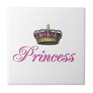 ショッキングピンクのプリンセスの王冠 タイル