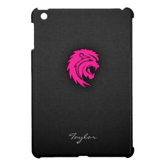 ショッキングピンクのレオのライオンの(占星術の)十二宮図の印 iPad MINIカバー