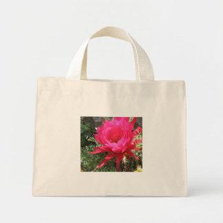 ショッキングピンクの咲くサボテンの花 ミニトートバッグ