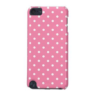 ショッキングピンクの小さく白い水玉模様 iPod TOUCH 5G ケース