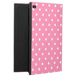 ショッキングピンクの小さく白い水玉模様 POWIS iPad AIR 2 ケース
