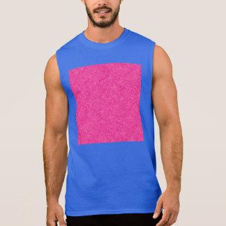ショッキングピンクの抽象的な星 袖なしシャツ