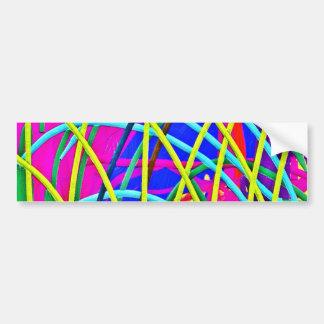 ショッキングピンクの抽象芸術のガーリーな落書きのデザインのノベルティのギフト バンパーステッカー