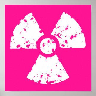 ショッキングピンクの放射性印 ポスター