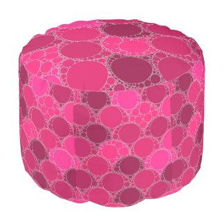 ショッキングピンクの暗いピンクの抽象芸術 プーフ