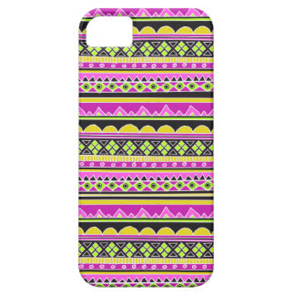 ショッキングピンクの民族パターン iPhone 5 Case-Mate ケース