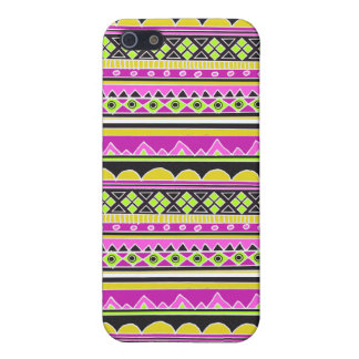 ショッキングピンクの民族パターン iPhone 5 COVER