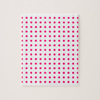 ショッキングピンクの水玉模様 ジグソーパズル