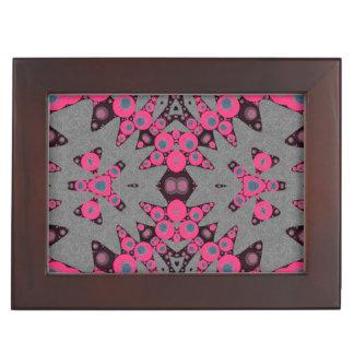 ショッキングピンクの灰色の抽象芸術 アクセサリーケース