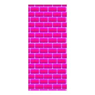 ショッキングピンクの煉瓦背景のDIGITALのグラフィック ラックカード