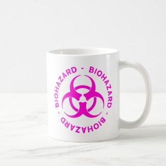 ショッキングピンクの生物学的災害[有害物質]の警告 コーヒーマグカップ