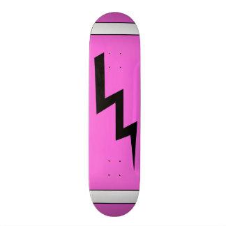 ショッキングピンクの稲妻のスケートボード 21.6CM スケートボードデッキ