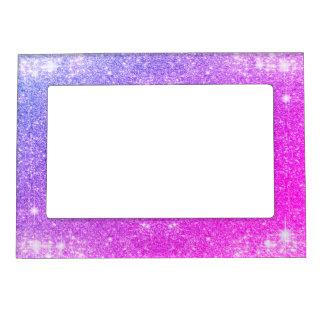 ショッキングピンクの紫色のグリッターの輝きののどの質 マグネットフレーム
