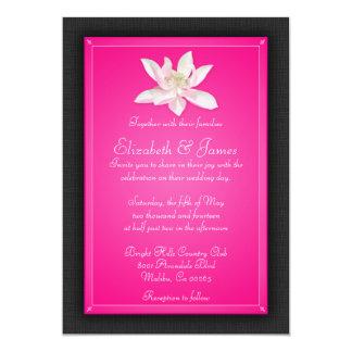 ショッキングピンクの結婚式招待状 カード