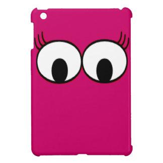 ショッキングピンクの背景の甘いモンスターの目 iPad MINI カバー