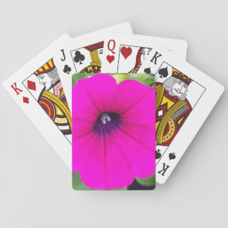ショッキングピンクの花のテーマのクラシックなトランプ トランプ