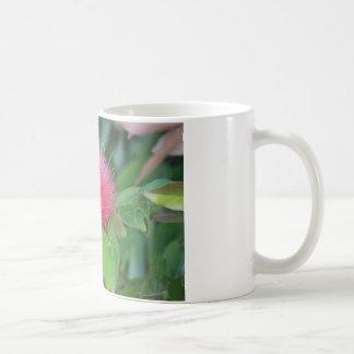 ショッキングピンクの野生の花のクラシックのマグ コーヒーマグカップ