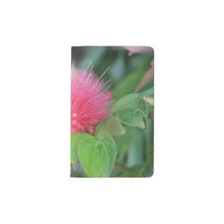 ショッキングピンクの野生の花のテーマのカスタムなノート ポケットMoleskineノートブック