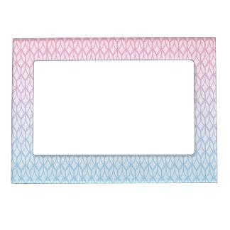 ショッキングピンクの青い勾配の楕円形パターン マグネットフレーム