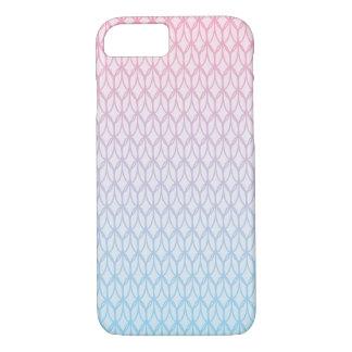 ショッキングピンクの青い勾配の楕円形パターン iPhone 8/7ケース