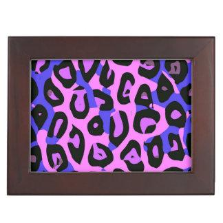 ショッキングピンクの青の抽象芸術のチータ ジュエリーボックス