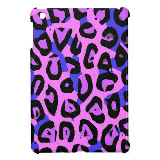 ショッキングピンクの青の抽象芸術のチータ iPad MINIカバー