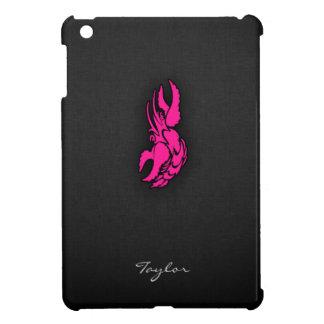 ショッキングピンクの(占星術の)十二宮図の蟹座の印 iPad MINI カバー