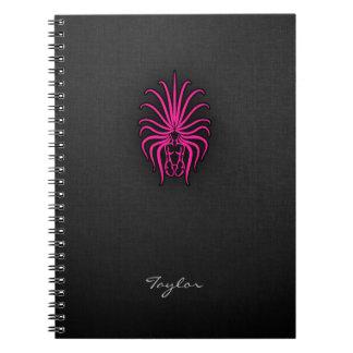 ショッキングピンクの《星座》乙女座の(占星術の)十二宮図の印 ノートブック