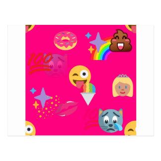 ショッキングピンクのemoji ポストカード