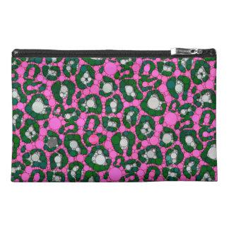 ショッキングピンクのSpearmintのチータの抽象芸術 トラベルアクセサリーバッグ