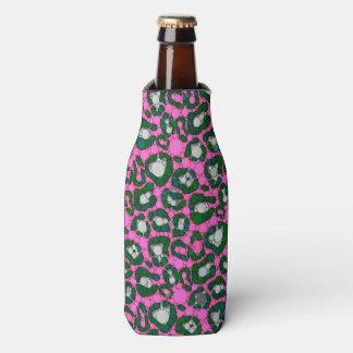 ショッキングピンクのSpearmintのチータの抽象芸術 ボトルクーラー