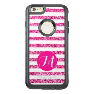 ショッキングピンクはカスタマイズ可能なモノグラムと縞で飾ります オッターボックスiPhone 6/6S PLUSケース