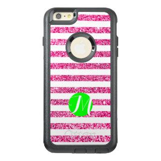 ショッキングピンクはライムのモノグラムと縞で飾ります オッターボックスiPhone 6/6S PLUSケース