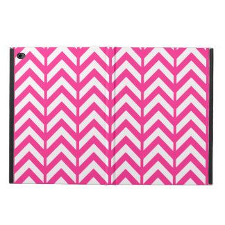ショッキングピンクシェブロン3 POWIS iPad AIR 2 ケース