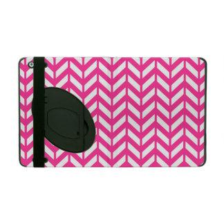 ショッキングピンクシェブロン4 iPad ケース