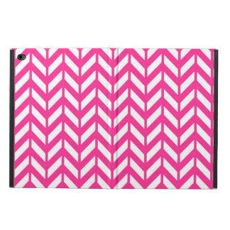 ショッキングピンクシェブロン4 POWIS iPad AIR 2 ケース