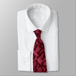ショッキングピンク猫のプリント ネクタイ