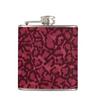 ショッキングピンク猫のプリント フラスク
