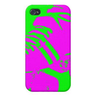 ショッキングピンク、ネオン緑のローラースケートのiPhoneの箱 iPhone 4/4Sケース