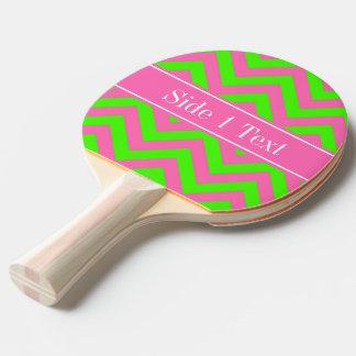 ショッキングピンク#2のライムグリーンLGシェブロンの一流のモノグラム 卓球ラケット