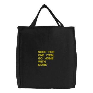 ショッピングのカスタムによって刺繍されるバッグ 刺繍入りトートバッグ
