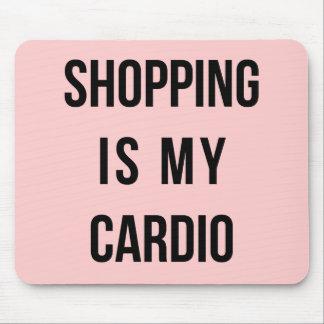 ショッピングはピンクの私の心臓です マウスパッド