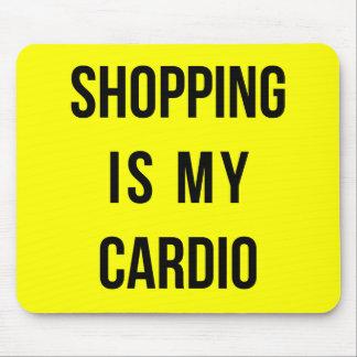 ショッピングは黄色の私の心臓です マウスパッド