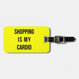 ショッピングは黄色の私の心臓です ラゲッジタグ