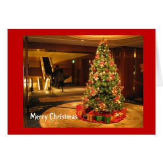ショッピングモールのクリスマスツリー グリーティングカード