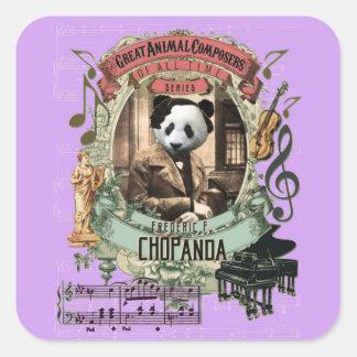 ショパンChopandaのパンダのおもしろいですばらしい動物作曲家 スクエアシール