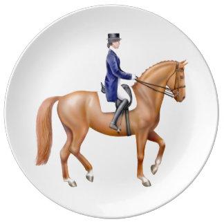 ショーの磁器皿の馬場馬術の馬 磁器プレート